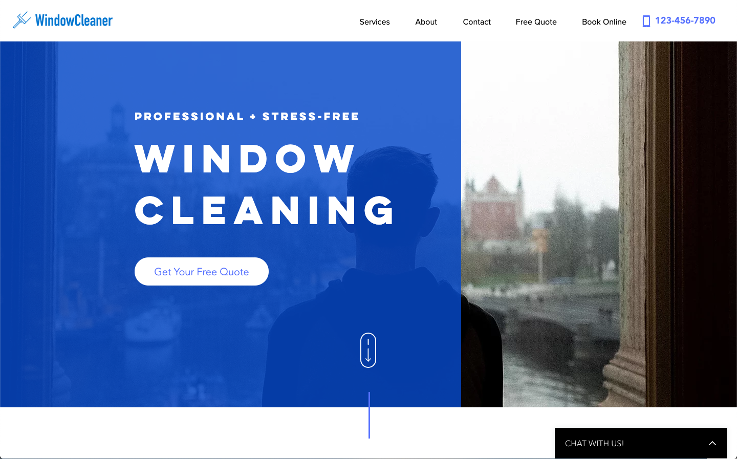 Window Cleaning website home page banner | RocketThruster