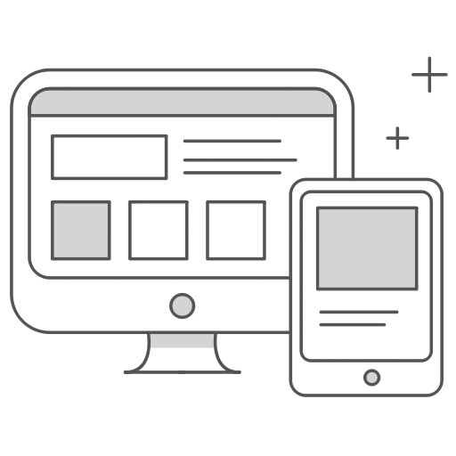 Web design services by RocketThruster icon.