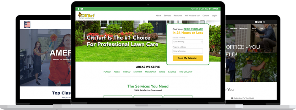 Window cleaning website portfolio image.